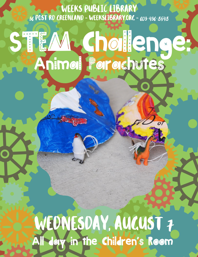 All Day Stem Challenge Animal Parachute Weeks Public Library
