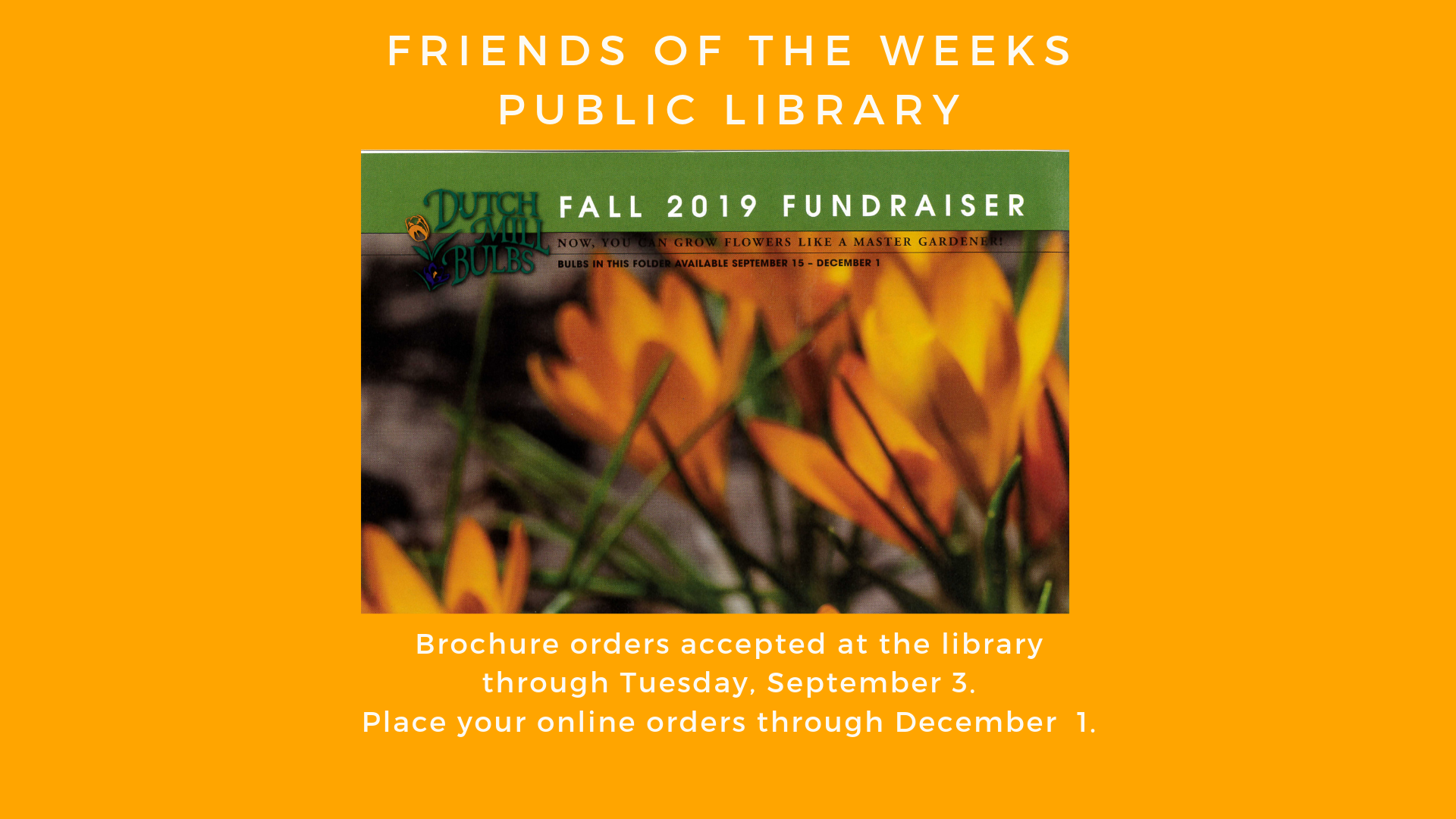 Fundraisers – Weeks Public Library