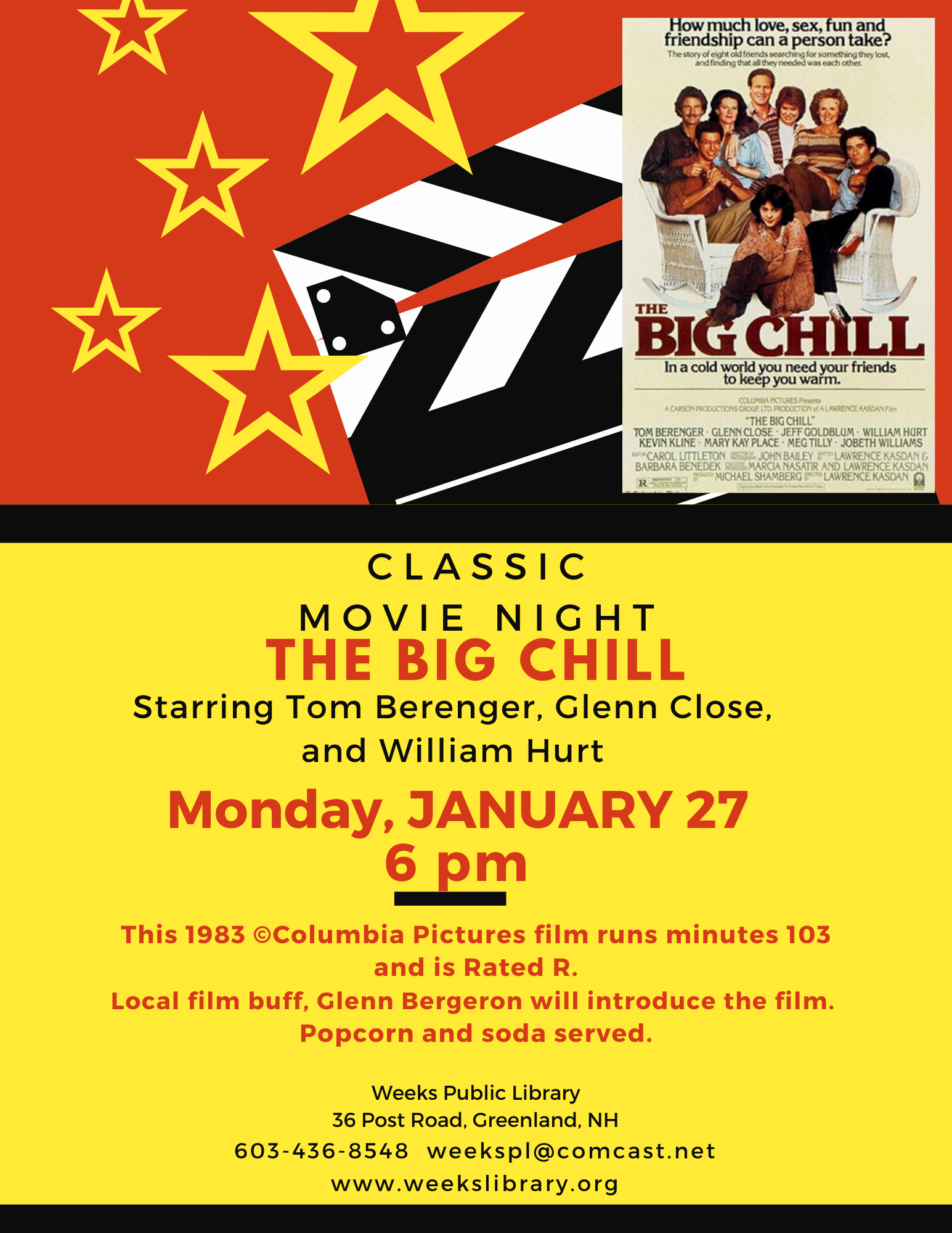 6:00pm Classic Movie Night – Weeks Public Library