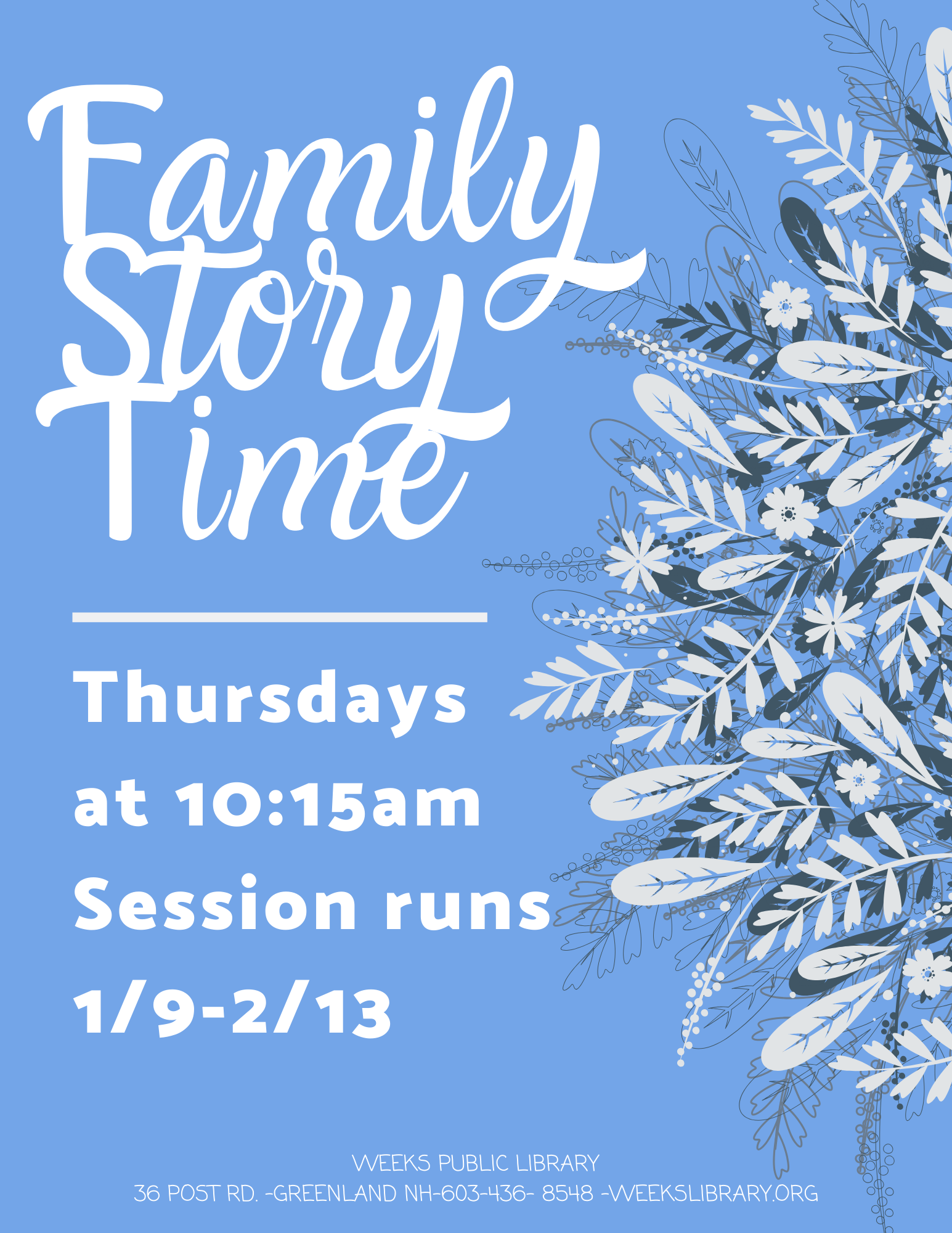 Family Story Time – Weeks Public Library